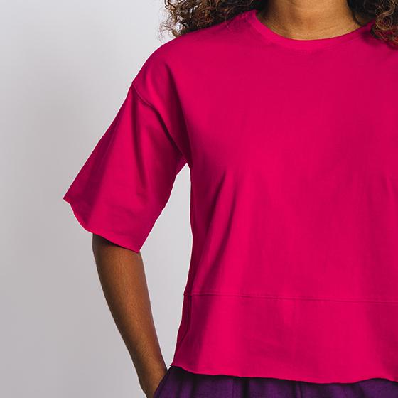 Tea-shirt ampla Pink